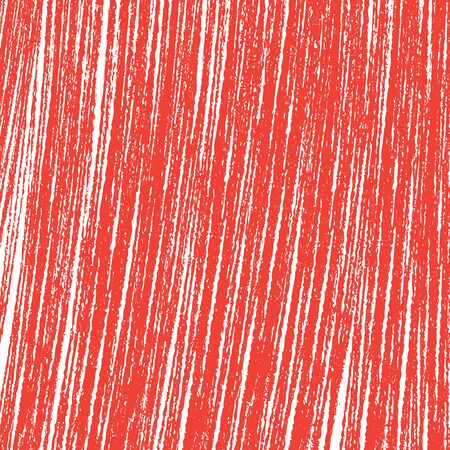 Scratch sketch grunge red and white texture. Abstract line vector illustration.