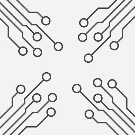 Circuit board icon. Technology scheme symbol flat vector illustration on white background.