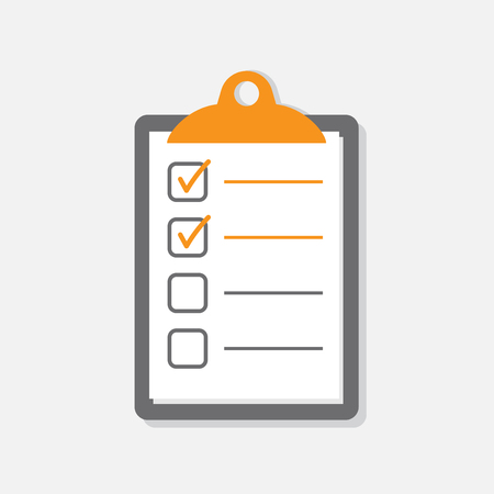 To do list icon. Checklist, task list vector illustration in flat style. Reminder concept icon on white background.