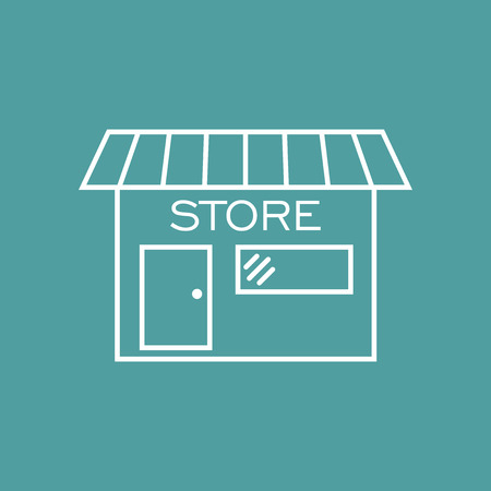 Store icon vector illustration in flat style. Shop symbol.