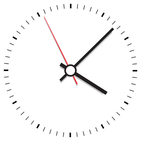 Clock icon vector illustration. Office clock on white background.