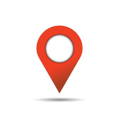 Pin icon vector. Location sign in flat style isolated on white background. Navigation map, gps concept.