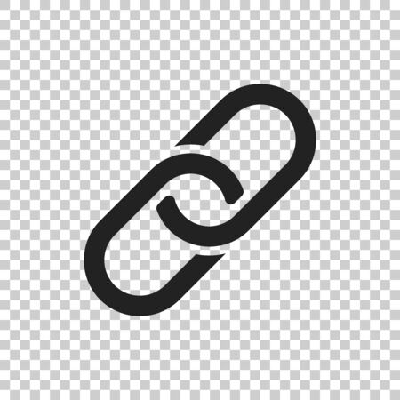 Chain Icon vector illustration in flat style on isolated background. Connection symbol for web site design, logo, app, ui. Ilustração