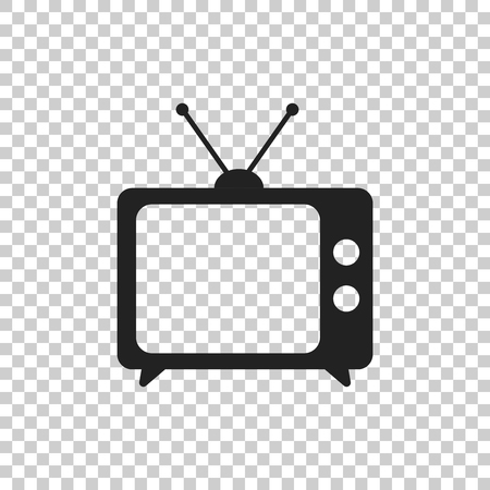 Tv Icon vector illustration in flat style isolated on isolated background. Television symbol for web site design, logo, app, ui.