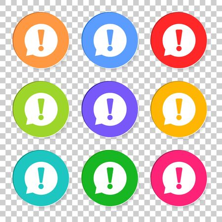 Attention Icon vector illustration in flat style isolated on isolated background.