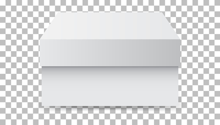 White cardboard package box. Vector illustration isolated on isolated background. Фото со стока - 73962843