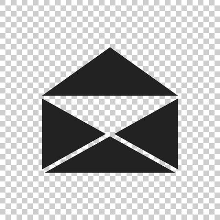 메일 봉투 아이콘 벡터 흰색 배경에 고립입니다. 이메일 플랫 벡터 일러스트 레이 션의 기호입니다.
