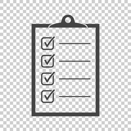To do list icon. Checklist, task list vector illustration in flat style. Reminder concept icon on isolated background. 向量圖像