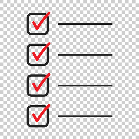 To do list icon. Checklist, task list vector illustration in flat style. Reminder concept icon on isolated background. Illustration