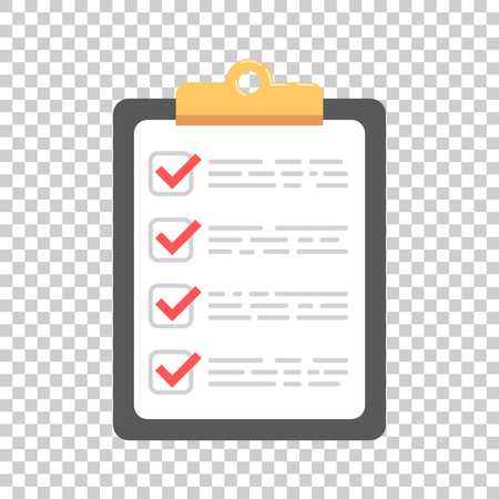 To do list icon. Checklist, task list vector illustration in flat style. Reminder concept icon on isolated background. Ilustrace