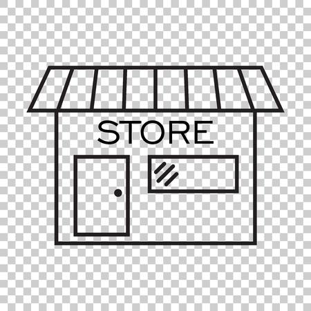 Bewaar icoon vectorillustratie in platte stijl. Winkel symbool.