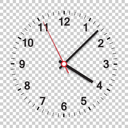 Clock icon vector illustration. Office clock on isolated background. Ilustrace