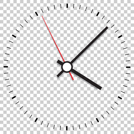Clock icon vector illustration. Office clock on isolated background. 向量圖像