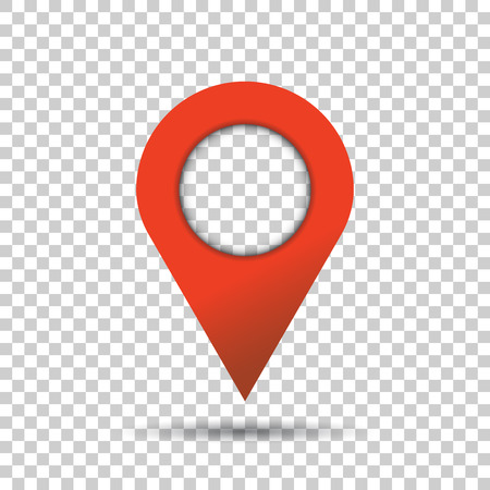 Pin icon vector. Location sign in flat style isolated on isolated background. Navigation map, gps concept. Stock Vector - 74112022