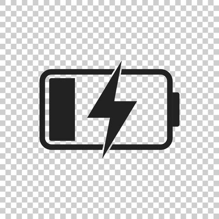 Battery charge level indicator. Vector illustration on isolated background. Illustration