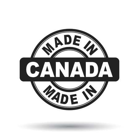 canada stamp: Made in Canada black stamp. Vector illustration on white background Illustration