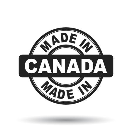 Made in Canada black stamp. Vector illustration on white background Illustration