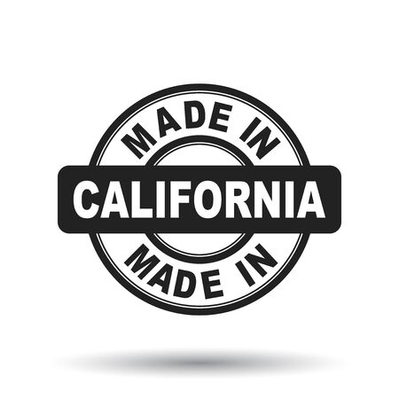 Made in California black stamp. Vector illustration on white background 일러스트