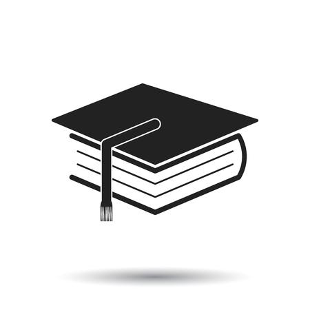 Education and book. Flat icon vector illustration on white background. Illusztráció