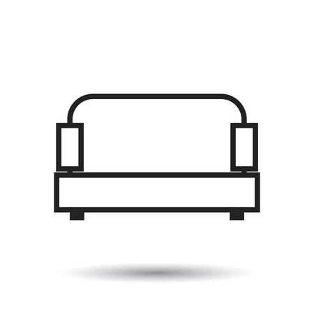 Sofa vector illustration isolated on white background. Sofa icon vector illustration.