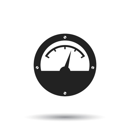 Electric meter icon. Power meter flat vector illustration on white background.