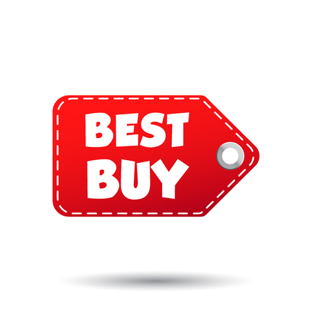 choise: Best buy hang tag. Label vector illustration on white background
