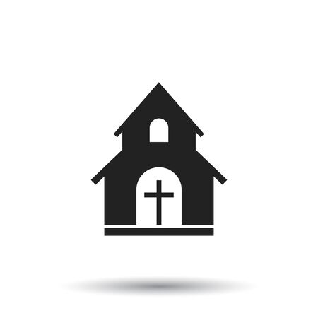Church sanctuary vector illustration icon. Simple flat pictogram for business, marketing, mobile app, internet on white background Illustration