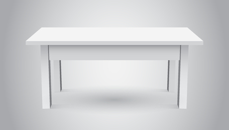 3d table for object presentation. Empty white top table isolated on gray background. 일러스트