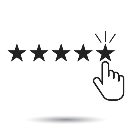 critique: Modern illustration of a  rating, user feedback concept vector icon. Flat illustration on white background.