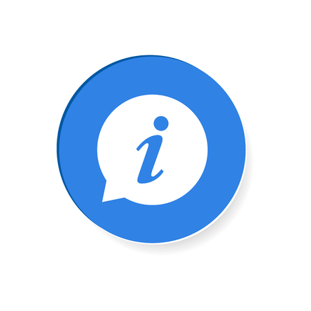 Information Icon illustration in flat style