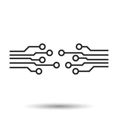 schemes: Circuit board icon.