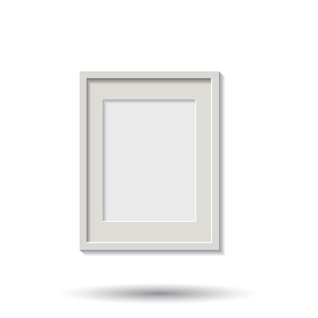 Realistic photo frame isolated on white background. Pictures frame vector illustration.