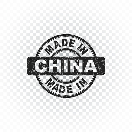 made in china: Made in China stamp. Vector illustration on isolated background
