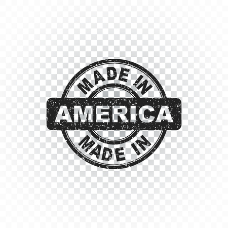 Made in America stamp. Vector illustration on isolated background