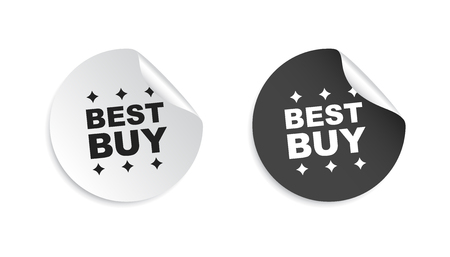 discount banner: Best buy sticker. Business sale tag label vector illustration on white background.