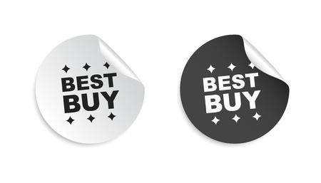 Meilleur autocollant d'achat. Illustration vectorielle de vente vente étiquette étiquette sur fond blanc. Banque d'images - 76105608
