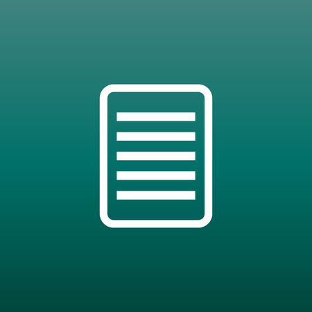 note pad: Document pictogram icon. Simple flat illustration for business, marketing internet concept on green background. Trendy modern vector symbol for web site design or mobile app