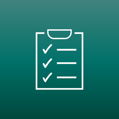 rating: To do list icon. Checklist, task list vector illustration in flat style. Reminder concept icon on green background.