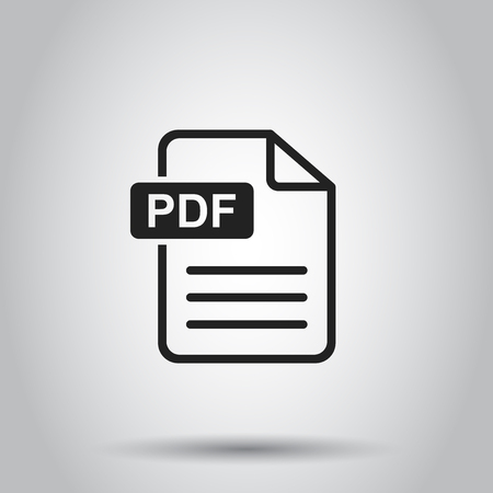 PDF download vector icon. Simple flat pictogram for business, marketing, internet concept. Vector illustration on gray background.