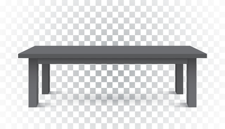 3d table for object presentation. Empty dark top table on isolated background. Illusztráció
