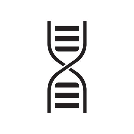 Dna vector icon. Medecine molecule flat illustration. Reklamní fotografie - 76949377
