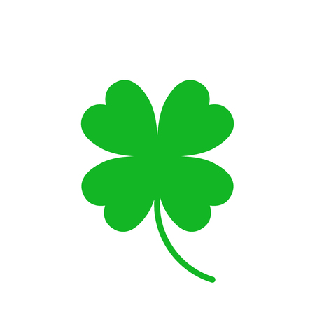 Four leaf clover vector icon. Clover silhouette simple icon illustration.