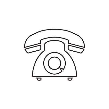Phone icon, Old vintage telephone symbol illustration. Illustration