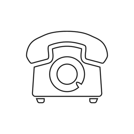 vintage telephone: Phone icon, Old vintage telephone symbol illustration. Illustration