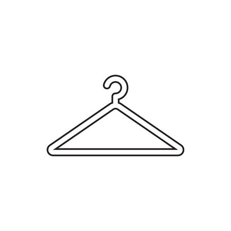 clothing rack: Hanger vector icon in line style. Wardrobe hanger flat illustration. Illustration