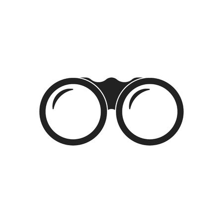 Binocular vector icon. Binoculars explore flat illustration.
