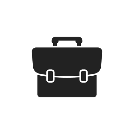 attache: Suitcase vector icon. Luggage illustration in flat style.