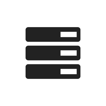 hard drive: Database, server vector icon. Storage vector illustration. Illustration