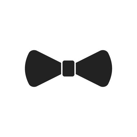 Bow tie flat icon. Necktie vector illustration. 矢量图像