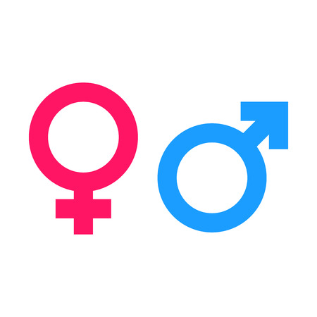 Gender equal sign icon. Men and women equal concept icon.